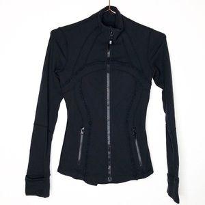 Lululemon Black Define Jacket Ruffle Size 2